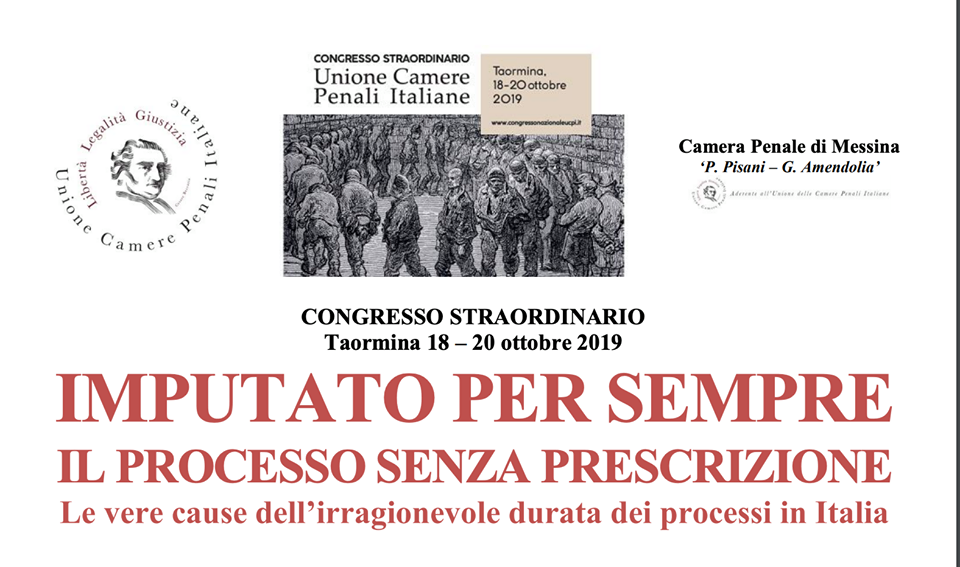 CONGRESSO STRAORDINARIO UCPI; TAORMINA 18-20 OTTOBRE 2019